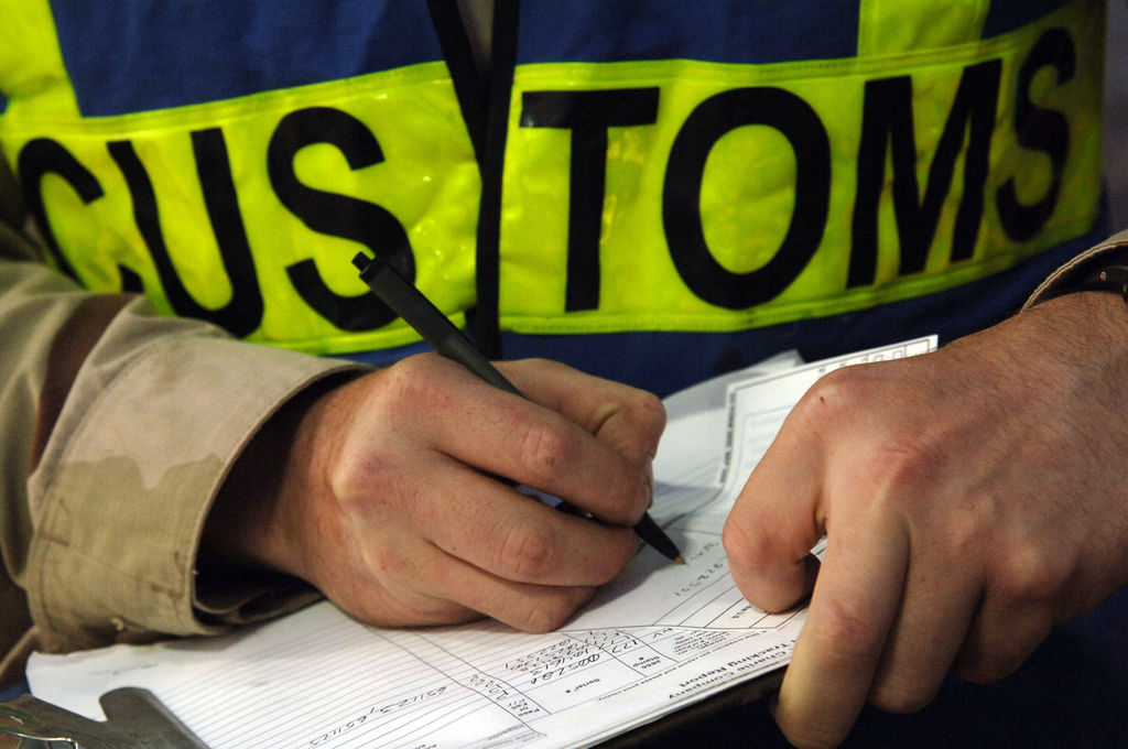 Customs seizure in Italy