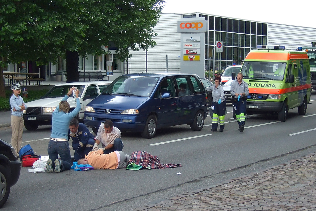 Pedestrian accident injuries in Italy